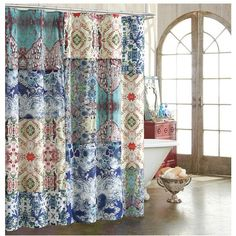 Tracy Porter For Poetic Wanderlust 'Astrid' Shower Curtain ($60) ❤ liked on Polyvore featuring home, bed & bath, bath and shower curtains