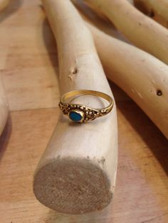 summer ring turquoise and metal Liza Korn 19 rue Beaurepaire 75010 Paris