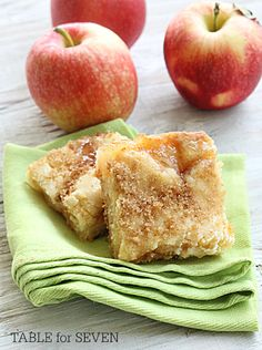 Apple Pie Sugar Cookie Bars - TABLE for SEVEN