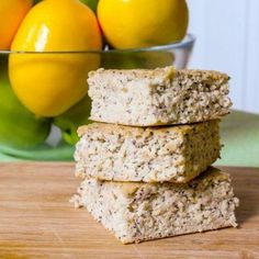 Lemon Poppy Seed Protein Squares by Eat Spin Run Repeat