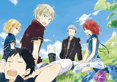 Kiki & Zen & Mitsuhide & Shirayuki & Obi | Akagami no Shirayuki-hime #manga