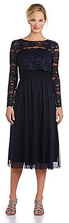 R & M Richards Sequined Lace Popover Dress on shopstyle.com