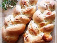 ハムチーズ三つ編みパン♡生地作りはHBでの画像
