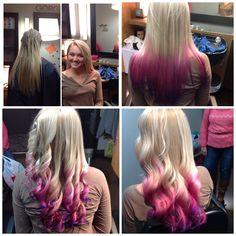 Pink to violet ombré
