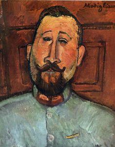 Амедео Модильяни -  Доктор Деварен  (1917) -  Балтимор. Университет Джонса Хопкинса (США)
