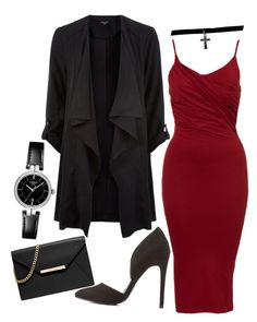 """""""Untitled #2084"""" by hersheys-kiss ❤ liked on Polyvore featuring Charlotte Russe, MICHAEL Michael Kors, Tissot and Boohoo"""