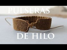 tutorial pulseras de hilo friendships bracelets - YouTube