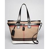 Burberry Brit Tote - Canvas Check Medium Traveler