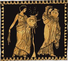 Clothing of Ancient Greek Women : One of the main differences between the peplos and the Doric chiton was the length of the over fold, which was called the apotyga.