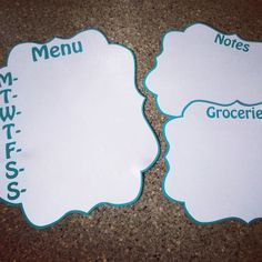 Love this idea of making Magnets to help with Meal Planning, Grocery Lists, and Honey-Do Lists. All made using your Silhouette. from The Five to Niner
