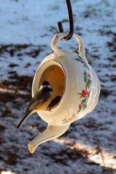 44 Cute Teapot Birdhouse Ideas To Improve Your Outdoor Decor - Trendehouse Garden Crafts, Garden Projects, Garden Ideas, Bird Crafts, Garden Tips, Teapot Birdhouse, Birdhouse Ideas, Birdhouses, Birdhouse Decorating Ideas