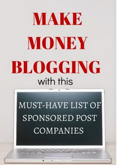 List of sponsored post companies for bloggers to connect with brands and make money