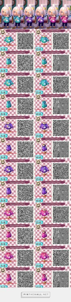 Welcome to Zombieland Galaxy Moon sweater in green / purple / pink. Animal Crossing Qr Codes Clothes, Animal Crossing Game, Deviant Art, Flag Code, Motif Acnl, Ac New Leaf, Galaxy Pattern, Pink Galaxy, Animal Games