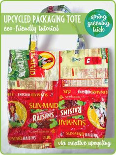 A Thrifter in Disguise: DIY Tote Bag from Upcycled Plastic Bags {Green Con...