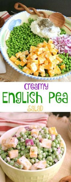 This simple and easy to follow recipe for Creamy English Pea Salad is ...