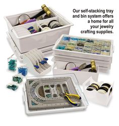 Bead Storage Solutions by Elizabeth Ward: made by a beader for a beader!