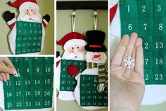 Your entire family is excited for the holiday season, so why not count down the days! These adorable calendars are perfect for adding to the kitchen or living room where the whole family can enjoy counting down to Christmas day! -Available in Santa Clause or Snowman -Numbers include pockets for snowflake insert -Put the snowflake in the pocket to change days. Only $9.99! Click now to order one for your family.