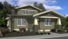 Northwest Style Craftsman House Plan, Viewing Gallery For Prairie ...