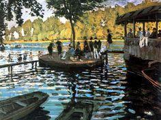 20 obras famosas de Claude Monet: Claude Monet: La Grenouillère