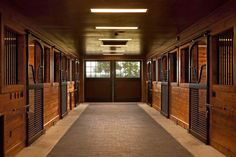 A simple and refined horse barn in Virginia. Horse stalls by Lucas Equine. Barn constructed by @Thorsen Construction