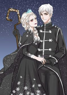 King+and+Queen+of+Snow+by+AinLavendra.deviantart.com+on+@DeviantArt
