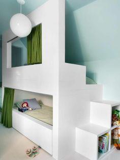 hochbett selber bauen 2x kallax regal von ikea unter das bett stellen 2x vikare st tzbrett. Black Bedroom Furniture Sets. Home Design Ideas
