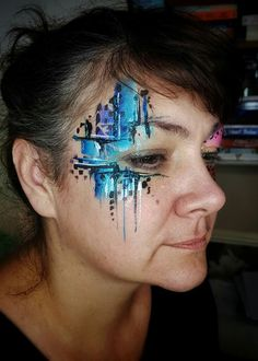 Eye Face Painting, Adult Face Painting, Face Paint Makeup, Face Painting Designs, Face Art, Glitter Face Paint, White Face Paint, Makeup For Tweens, Tribal Face Paints