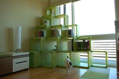 Cubicat Cat Climbing Structure, could diy with open back crates: