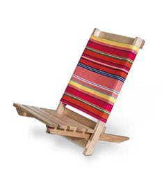 summertime silla de playa de madera