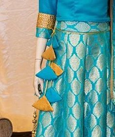 Fabric tassels # Bharati design studio # Indian fashion # small details