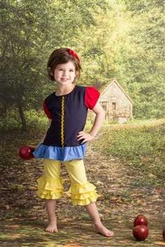 Apple Princess (Shirt Only) - Snow White Custom Boutique outfit perfect for Disney or any other princess!! - Only at Adorable Essentials - www.adorableessentials.com with free shipping!! Great match to Matilda Jane Clothing, Well Dressed Wolf, Sweet Honey and so many other boutique brands!