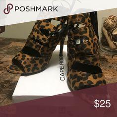 Heels Leopard strapy heels Shoes Heels