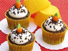 Recheio Mania: Cupcake de chocolate com cobertura de marshmallow