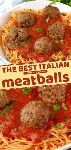 The word perfect doesn't even begin to describe this easy dinner idea. This beef recipe was passed down by my grandmother to you! Impress your family by makinng the best Italian meatballs! Save this easy main dish for later! Easy Main Dish Recipes, Easy Dinner Recipes, Dinner Ideas, Simple Recipes, Easy Family Dinners, Easy Meals, Italian Meatballs, Thanksgiving Main Dishes, Beef Recipes