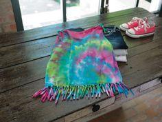 Kid's Fringed Tie-Dye T-shirt