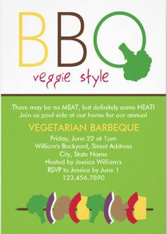 custom vegetarian bbq invitations how refreshing bbq_invitations summer bbq summer parties