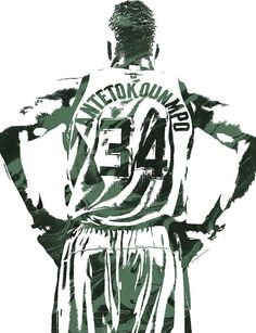 08704a7f3 Giannis Antetokounmpo Milwaukee Bucks Pixel Art 3 Art Print by Joe Hamilton