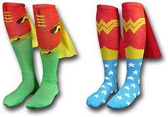 Superhero Cape Socks i want a pair