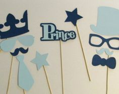 Little Man Party Photo Booth Props Little Man Decorations Boy Baby Shower Photo Props Little Prince Party Decorations Royal Prince Birthday Baby Shower Photo Booth, Fotos Baby Shower, Baby Shower Photos, Baby Shower Themes, Baby Boy Shower, Shower Ideas, Little Prince Party, Little Man Party, Mustache Party Decorations