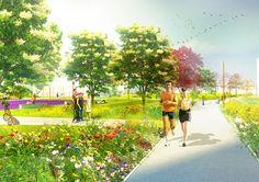 Jaanila Country park Flower path