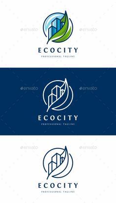Eco City Logo: Building Logo Design Template by City Branding, Logo Branding, Web Design, Font Logo Design, Graphic Design, Eco City, Building Logo, City Logo, Construction Logo