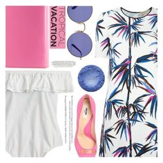 """Welcome To Paradise: Tropical Vacation"" by aislinnhamilton1993 ❤ liked on Polyvore featuring J.Crew, Emilio Pucci, Moschino, Michael Kors, Ray-Ban and TropicalVacation"