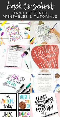 Back to School Lettering Tutorial: Make Good Choices. Lettering that goes off the page is a simple yet effective way to add character and style to a piece! Brush Lettering Worksheet, Hand Lettering Practice, Brad Pitt, Printables Organizational, Printable Coloring Sheets, Printable Letters, Make Good Choices, Lettering Tutorial, Back To School