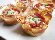 Petite Lasagnas - Won Ton Wrapper Recipe Roundup