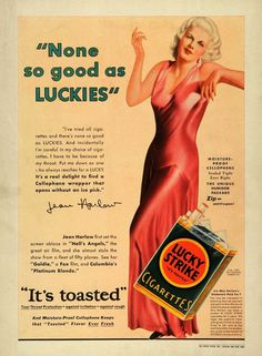 Jean Harlow~ Lucky Strike ad...