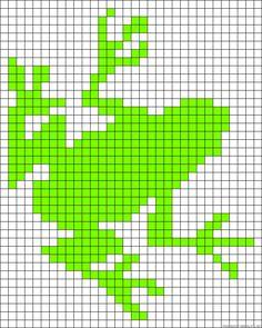 Tree frog perler bead pattern