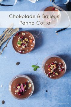 Chokolade Panna Cotta med Baileys - lækreste dessert opskrift