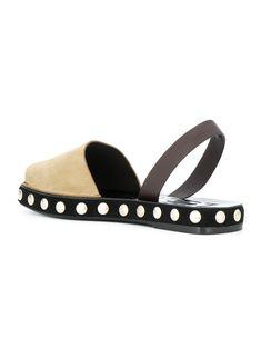 studded sole slingback sandals
