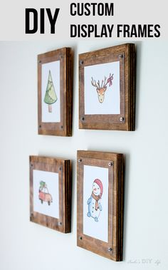 Gorgeous decor! How to make easy DIY custom frames for pictures and printables #diypictureframes #Christmasdecorideas