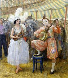Circus Musician ~ Laura Knight ~ (English 1877 – 1970)
